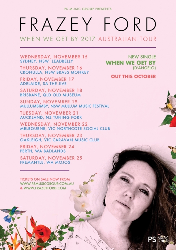 Tour Poster - Frazey Ford 'When We Get By' 2017 Australian Tour (1) (1)
