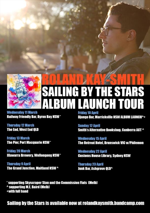 Roland Kay-Smith Album Launch Tour Poster